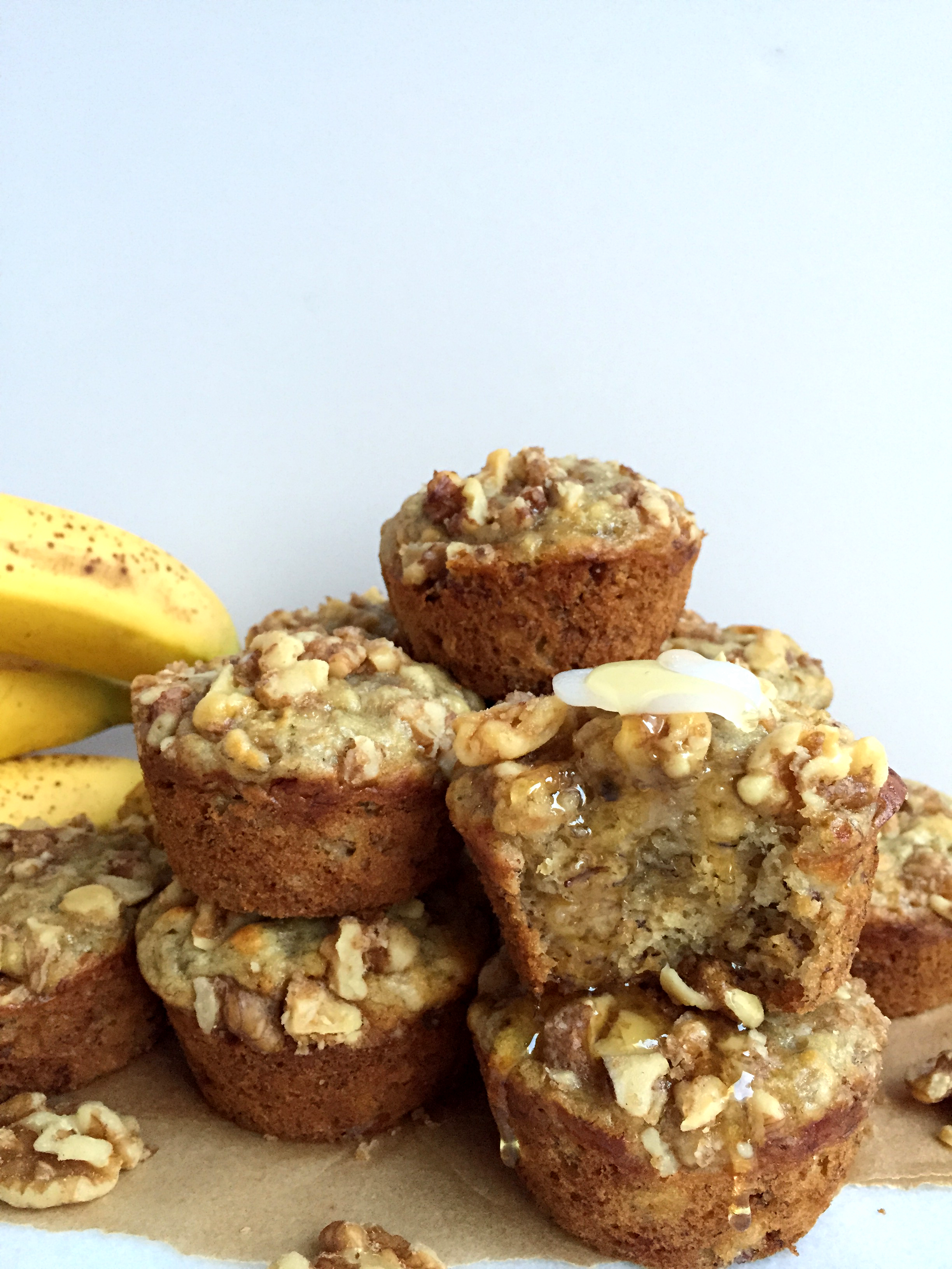 Banana Bread Walnut Crunch Muffins Peach And The Cobbler Real Food Holistic Health Self Love